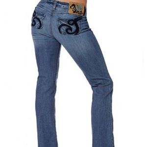 HOUSE OF DEREON Beyonce Low Rise Bootcut Jeans 0